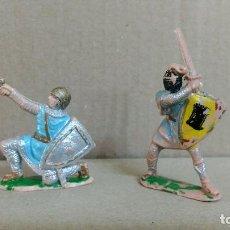 Figuras de Goma y PVC: 2 SOLDADOS MEDIEVAL REY ARTURO , REAMSA ,ORIGINAL AÑOS 50-60-PINTURA ORIGINAL. Lote 277516873