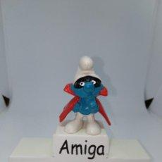 Figuras de Goma y PVC: PITUFO ESPIA - PEYO - W.GERMANY. Lote 277527928