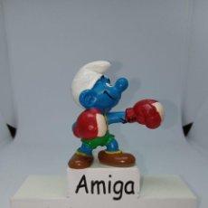 Figuras de Goma y PVC: PITUFO BOXEADOR - PEYO - W.GERMANY - SCHLEICH. Lote 277529838
