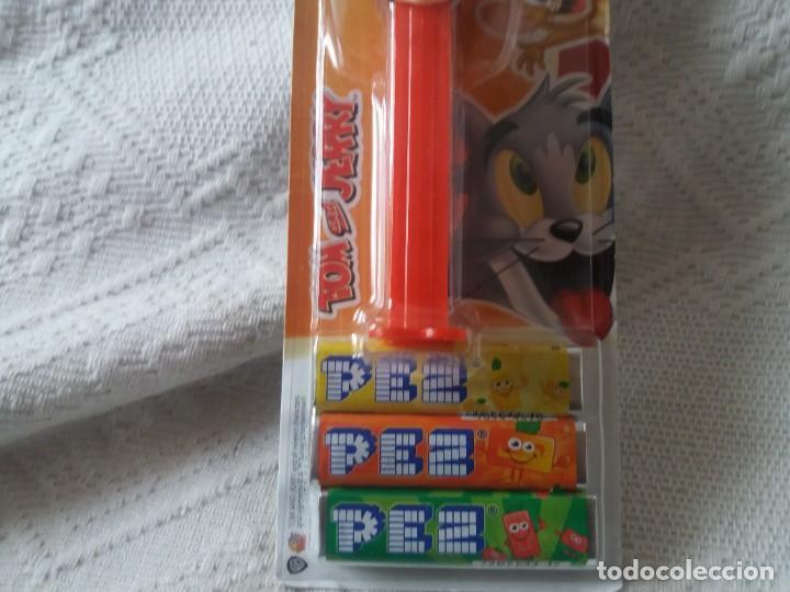 Dispensador Pez: Figura ratón Jerry. Tom y Jerry. Dispensador caramelos Pez. Nuevo. Sin abrir. - Foto 3 - 277594388
