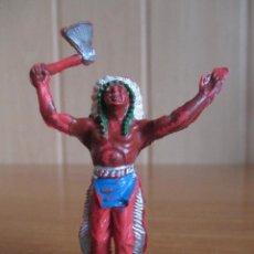 Figuras de Goma y PVC: FIGURA ANTIGUA INDIO OESTE , 5,5 CM ( PECH , JECSAN , REAMSA , LAFREDO , COMANSI , ETC). Lote 277602508