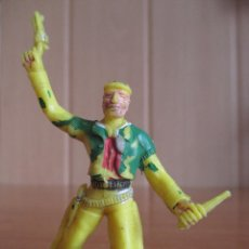 Figuras de Goma y PVC: FIGURA ANTIGUA VAQUERO OESTE , 5,5 CM ( PECH , JECSAN , REAMSA , LAFREDO, COMANSI , ETC). Lote 277602593