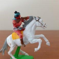 Figuras de Goma y PVC: FIGURA INDIO A CABALLO BRITAINS. Lote 277623273