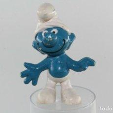 Figuras de Goma y PVC: FIGURA PVC PITUFOS SMURFS PEYO EURA PITUFO SONRIENTE. Lote 277624643