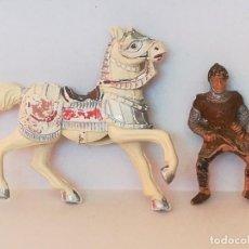 Figuras de Goma y PVC: FIGURAS DE PLÁSTICO GUERRERO MEDIEVAL REAMSA SERIE TORNEO CRUZADOS ARTURO REY LEÓN. Lote 277657738