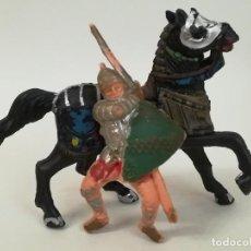 Figuras de Goma y PVC: FIGURAS DE PLÁSTICO GUERRERO MEDIEVAL REAMSA SERIE TORNEO CRUZADOS ARTURO REY LEÓN. Lote 277657983