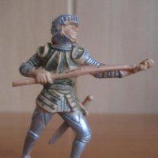 Figuras de Goma y PVC: FIGURA ANTIGUA SOLDADO MEDIEVAL, ( PECH , JECSAN , REAMSA , OLIVER , COMANSI , ETC). Lote 277682563