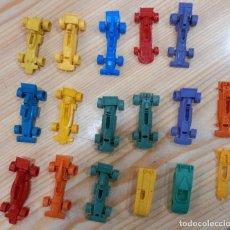 Figuras de Goma y PVC: GRAN LOTE DE COCHES BOLIDOS BIMBO PREMIUM DUNKIN TITO ORIGINALES AÑOS 70. Lote 277693258