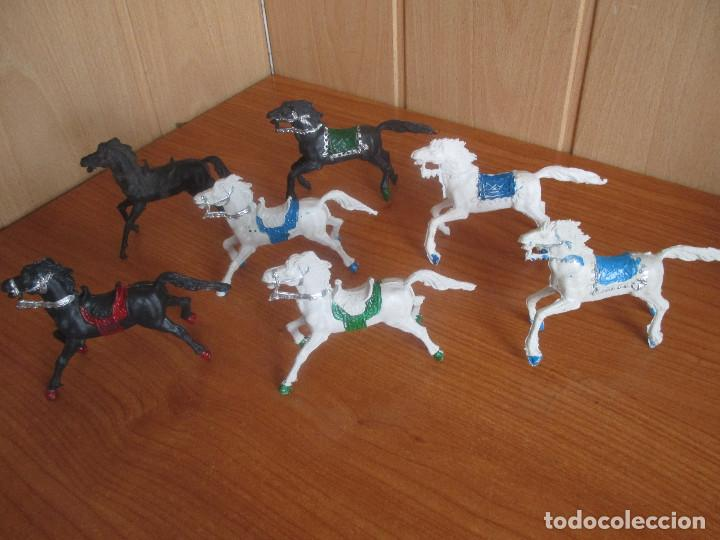 LOTE 7 CABALLOS ANTIGUOS ( PECH , REIGON , JECSAN , REAMSA , OLIVER , COMANSI , ETC) (Juguetes - Figuras de Goma y Pvc - Otras)