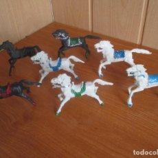 Figuras de Goma y PVC: LOTE 7 CABALLOS ANTIGUOS ( PECH , REIGON , JECSAN , REAMSA , OLIVER , COMANSI , ETC). Lote 277719503
