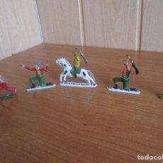 Figuras de Goma y PVC: LOTE 5 FIGURAS INDIOS VAQUEROS OESTE 4 CM DE ALTO ( PECH , JECSAN , REAMSA , COMANSI , ETC). Lote 277721113