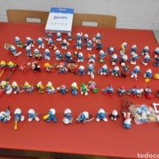 Figuras de Goma y PVC: LOTE DE 76 PITUFOS DIFERENTES + GUÍA OFICIAL. SCHLEICH Y OTRAS MARCAS.. Lote 277839538
