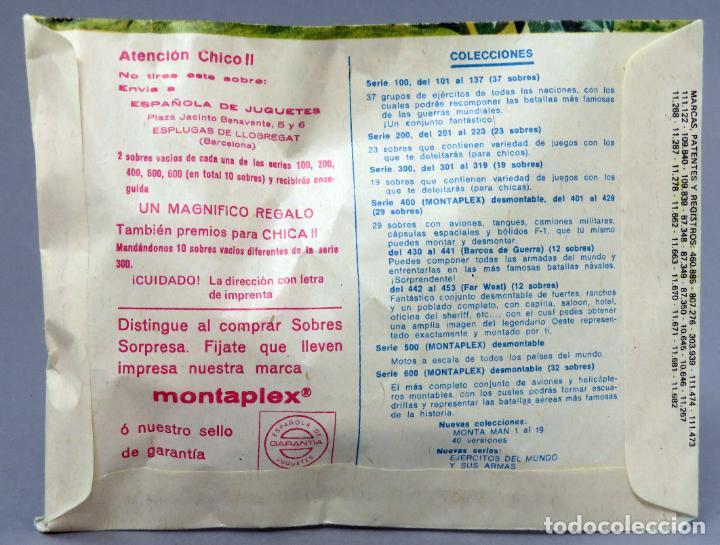 Figuras de Goma y PVC: Sobre sorpresa Montaplex Norteamérica confederados reedición años 90 con sobre original - Foto 2 - 278370278