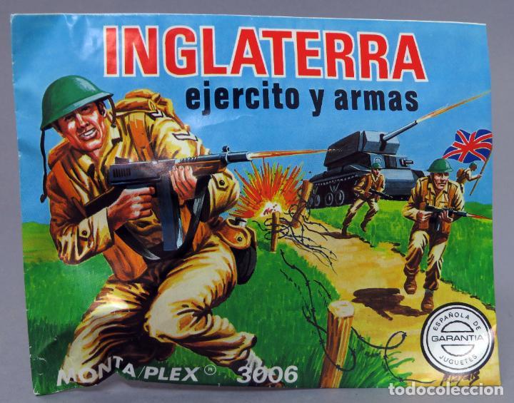 SOBRE SORPRESA MONTAPLEX INGLATERRA EJÉRCITO ARMAS REEDICIÓN AÑOS 90 CON SOBRE ORIGINAL (Juguetes - Figuras de Goma y Pvc - Montaplex)