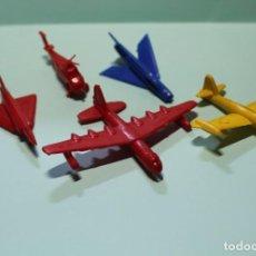 Figuras de Goma y PVC: CONJUNTO DE 5 AVIONES DE PLASTICO. TIPO MONTAPLEX O SIMILAR. B-36, MIRAGE Y OTROS. AÑOS 60.. Lote 278375593