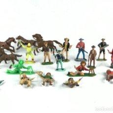 Figuras de Goma y PVC: LOTE DE FIGURAS REAMSA~ COMANSI- JECSAN- O SIMILAR~ 15 VAQUEROS Y 5 CABALLOS. Lote 278541123