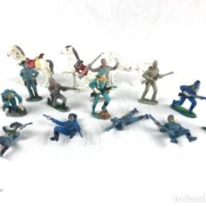 Figuras de Goma y PVC: LOTE DE FIGURAS REAMSA~ COMANSI- JECSAN- O SIMILAR~ 12 YANKEES Y 3 CABALLOS. Lote 278541168