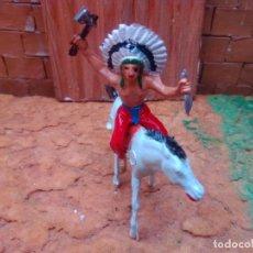 Figuras de Goma y PVC: INDIO Y CABALLO. Lote 278809318