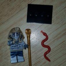 Figuras de Goma y PVC: MINIFIGURA COMPATIBLE FARAÓN EGIPCIO MOMIA EGIPTO IDEAL BELÉN NAVIDAD MUÑECO. Lote 278842808