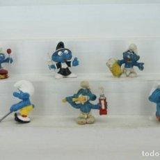 Figuras de Goma y PVC: FIGURAS PITUFOS. Lote 278849423