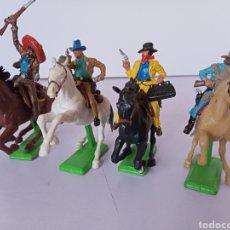 Figuras de Goma y PVC: 4 VAQUEROS BRITAINS. Lote 278935883