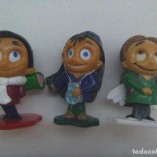 Figuras Kinder: LOTE DE 3 FIGURAS DE KINDER ( CREO ): MUÑEQUITOS QUE MUEVEN LOS OJOS. Lote 279348188