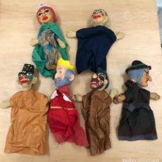 Figuras de Borracha e PVC: LOTE SURTIDO DE 6 GUIÑOLES - MARIONETAS. Lote 279407473