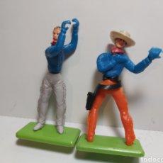 Figuras de Goma y PVC: COLECCIONES JECSAN BAQUEROS, 2 FIGURAS. Lote 279462708