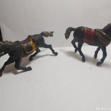 Figuras de Goma y PVC: 2 CABALLOS PECH GOMA TIPO REAMSA AÑOS 50. Lote 279483458