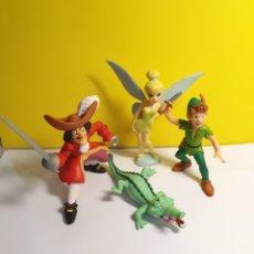 Figuras de Goma y PVC: PETER PAN DISNEY BULLYLAND 4 FIGURAS. Lote 279521618