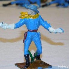 Figuras de Goma y PVC: PECH SERIE YANKIES *SOLDADO FEDERADO* 7,8 CM ALTO. PLÁSTICO. AÑOS 60. 3 FOTOS. Lote 280230533