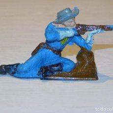 Figure di Gomma e PVC: PECH SERIE YANKIES *SOLDADO FEDERADO* 4,6 CM ALTO. PLÁSTICO. AÑOS 60. 3 FOTOS. Lote 280232028