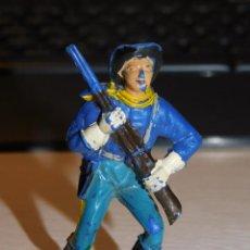 Figuras de Borracha e PVC: JECSAN *SOLDADO NORDISTA, FEDERAL* SERIE YANQUIES, 7º DE CABALLERÍA. Lote 280457403