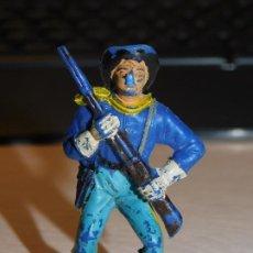 Figuras de Borracha e PVC: JECSAN *SOLDADO NORDISTA, FEDERAL* SERIE YANQUIES, 7º DE CABALLERÍA. Lote 280457448