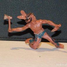 Figuras de Borracha e PVC: LAFREDO *INDIO CON RODILLA EN TIERRA* AÑOS 60. SERIE INDIOS Y VAQUEROS.. Lote 280599428