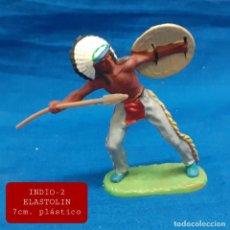 Figuras de Goma y PVC: JECSAN REAMSA COMANSI - INDIO 2 ELASTOLIN PLASTICO. Lote 280977188