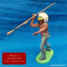 Figuras de Goma y PVC: JECSAN REAMSA COMANSI - INDIO 3 ELASTOLIN PLASTICO. Lote 280977253