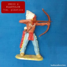 Figuras de Goma y PVC: JECSAN REAMSA COMANSI - INDIO 4 ELASTOLIN PLASTICO. Lote 280977303
