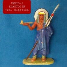 Figuras de Goma y PVC: JECSAN REAMSA COMANSI - INDIO 5 ELASTOLIN PLASTICO. Lote 280977398