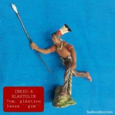 Figuras de Goma y PVC: JECSAN REAMSA COMANSI - INDIO 8 ELASTOLIN PLÁSTICO. Lote 280978323