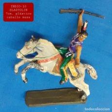 Figuras de Goma y PVC: JECSAN REAMSA COMANSI - INDIO 10 A CABALLO ELASTOLIN. Lote 280978673