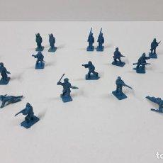 Figuras de Goma y PVC: LOTE DE SOLDADITOS MONTAPLEX . EJERCITOS DEL NORTE . ORIGINAL AÑOS 70 / 80. Lote 281906803