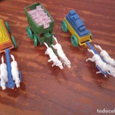 Figuras de Goma y PVC: LOTE A CARRETAS TIPO MONTAPLEX. Lote 282230993