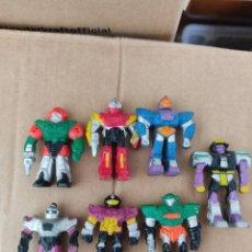 Figuras de Goma y PVC: LOTE DE 7 FIGURAS DE ROBOT AÑOS 90,SOMA. Lote 283404248