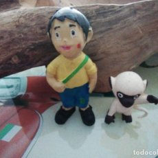 Figuras de Goma y PVC: MARCO Y AMEDIO DE GOMA LÁTEX CON PITÓ DE LA EPOCA. Lote 283496778