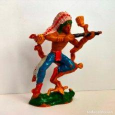 Figuras de Goma y PVC: INDIO DE LAFREDO 8 CMS. MUY BUEN ESTADO Y COMPLETO. Lote 284152293