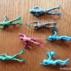 Figuras de Goma y PVC: LOTE DE 7 SUBMARISNISTAS DE JECSAN ACUARAMA AÑOS 70. Lote 284398243