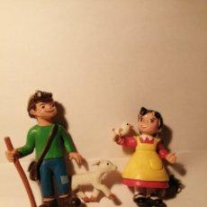 Figuras de Goma y PVC: FIGURAS EN GOMA DE HEIDI Y PEDRO. Lote 284794678