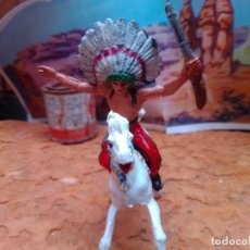 Figuras de Goma y PVC: INDIO CON CABALLO DE COMANSI. Lote 285104753