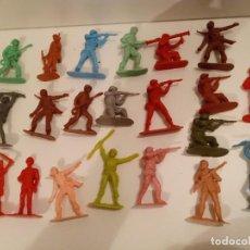 Figuras de Goma y PVC: 21 CASCOS AZULES MONOCOLOR - COPIA DE JECSAN. Lote 285271763
